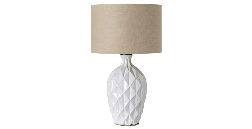 White Terracotta Lamp